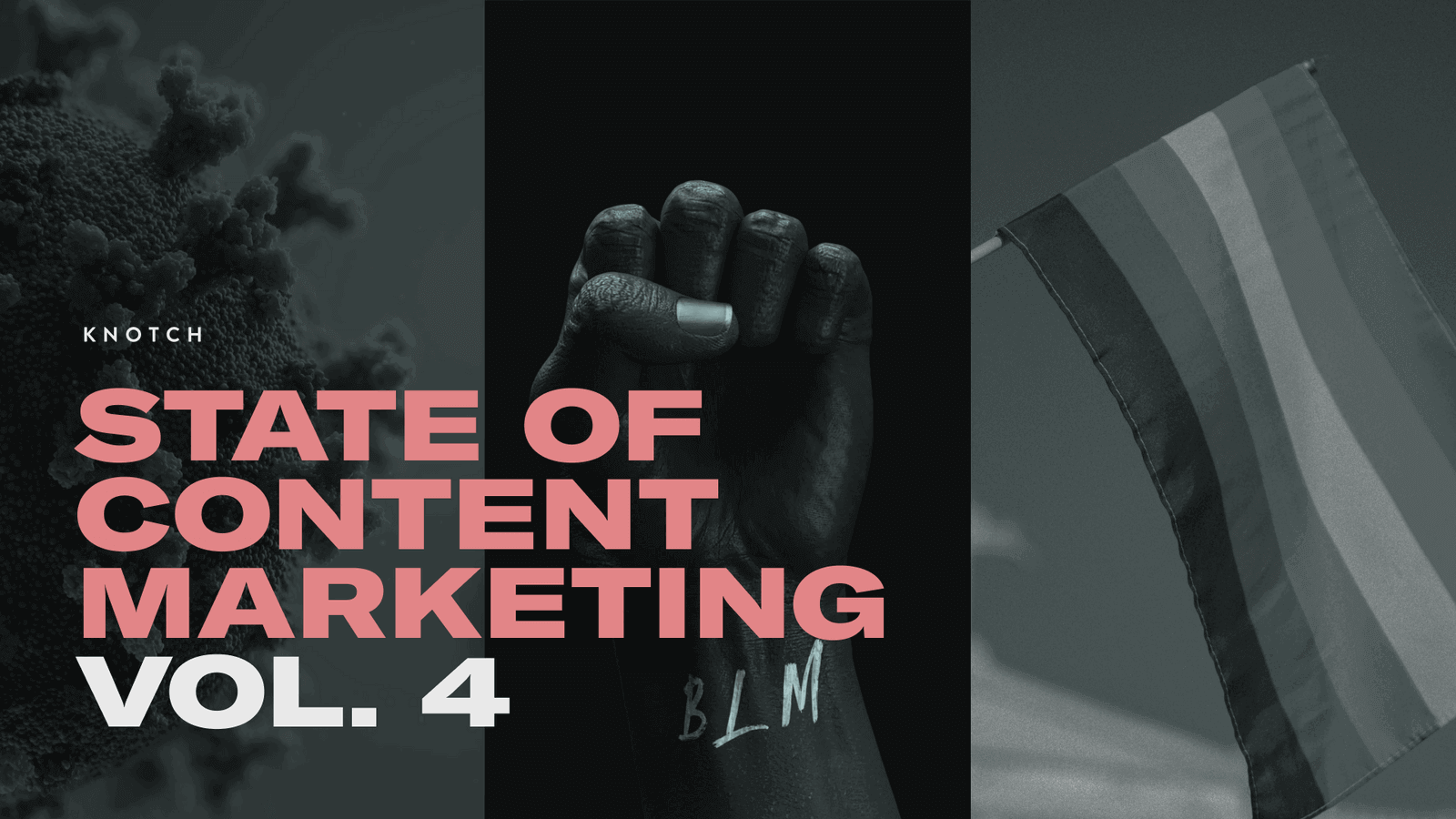 "Cover of the Knotch Report ""State of Content Marketing vol.4"""